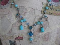 The Edwardian vintage jewelry assemblage necklace by originalnoell, $40.00