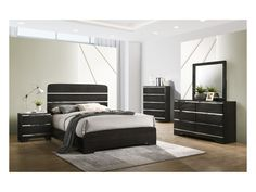 Crown Mark Chantal Collection B4830 Bedroom Set | Savvy Discount Furniture King Bedroom Sets, Queen Bedroom, Queen Size Bedding, Buy Furniture Online, Cheap Furniture, Discount Furniture, Brown Nightstands, Modern Murphy Beds, Murphy Bed Plans