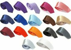 Satin ties delivered for under £1! Mens 2 Inch Slim Satin Tie Many Colours JUST 99p delivered at Amazon
