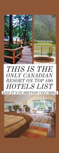 Only one resort made the list of Top 100 Hotels by Elite Traveler and it's in none other than Cool Places To Visit, Places To Travel, Places To Go, British Columbia, Columbia Travel, Columbia Road, Cheap Beach Vacations, Lanai Island, Where Is Bora Bora