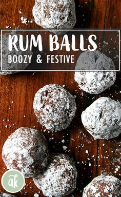This rum balls recipe is quick, easy, delicious and perfect for a crowd. I can't think of a more festive holiday treat to have on hand. Holiday Cookies, Holiday Desserts, Holiday Baking, Holiday Treats, Christmas Baking, Holiday Recipes, Christmas Recipes, Christmas Sweets, Christmas Goodies