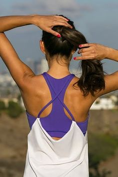 I love these drape tops from Ellie for running.