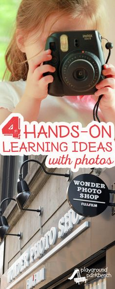 Does your preschooler LOVE to take pictures? Mine sure does. Use the enthusiasm by incorporating photography into our learning activities. Check out these 4 hands-on learning activities with photos, perfect for toddlers, preschoolers and early elementary aged children alike! Create fun photo books, posters, puzzles, magnets and more at the newly opened Fujifilm Wonder Photo Shop in NYC | Photography | Kids Activities | Early Childhood Education | Learning Through Play | #WonderPhotoShop #ad