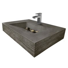 """Trueform 30"""" ADA Floating Concrete Bathroom Sink Wood Edge designed for a restaurant, bar or hotel and meets requirements for thickness, set backs and clearances. Wharton, New Jersey."""