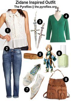 Final Fantasy IX Zidane Tribal Inspired Look - Outfit (Final Fantasy Fashion via @thepyreflies)