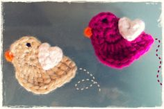 """By JC Designs    SIZE/MEASUREMENTS   The bird measures approx. 2"""" inches across from head to tail but can vary based on yarn and hook size...."""