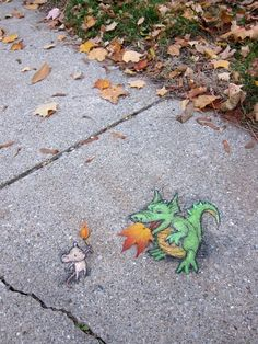 By David Zinn in Michigan, USA.