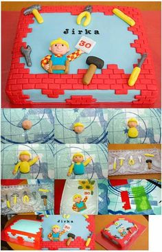 Bob the Builder cake tutorial