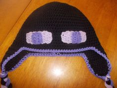 Minecraft Enderman Crochet Hat  Made to by CrochetionsbyShell, $30.00