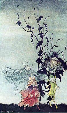 Artwork by Arthur Rackham Arthur Rackham, Fairy Land, Fairy Tales, Troll, John Kenn, Vintage Fairies, Fairytale Art, Mythical Creatures, Illustration Art