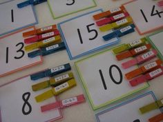 Great educational game! Match the math problems that is listed on the close pin with the answers.