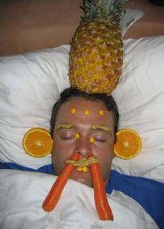 fruit face drunk man