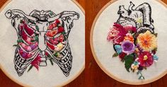 Floral Anatomy Embroideries by InherentlyRandom   Colossal   Bloglovin'