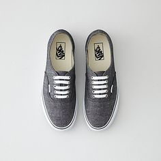 Vans Authentic Black Chambray Shoe | Mens Shoes | Steven Alan