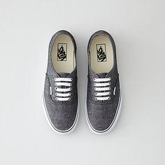 Vans Authentic Black Chambray Shoe | Mens Shoes | Steven Alan