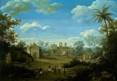 Frans Jansz Post - The Church of St. Cosmas and St. Damian and The Franciscan Monastery at Igaraçu