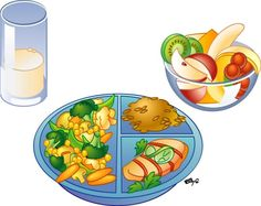 Healthy lunch food clipart