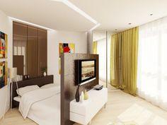 Image result for зонирование спальни и гостиной
