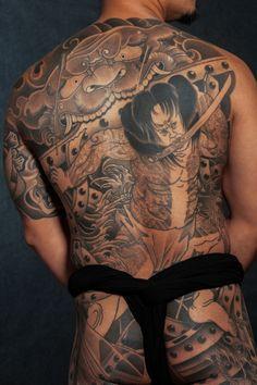 Japanese back piece by Bill Canales - Full Circle Tattoo - San Diego, CA. #fullcircletattoo