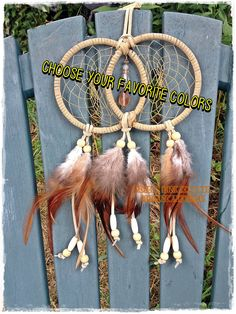 A personal favorite from my Etsy shop https://www.etsy.com/listing/199597442/double-linked-4-inch-dreamcatchers