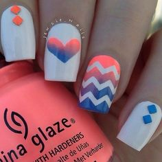 cool Colorful And Cute Chevron Nail Designs For The Summer - fashionsy.com by http://www.nailartdesignexpert.xyz/nail-designs-summer/colorful-and-cute-chevron-nail-designs-for-the-summer-fashionsy-com/
