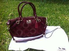 Coach Madison Handbag, Cherry Red, Cranberry Color, Sophia Style