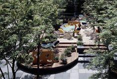 Works / COREDO日本橋アネックス広場 リニューアル - オンサイト計画設計事務所 Atrium Design, Green Lounge, Coffee Shop, Colonial, Deck, Landscape, Studio, Garden, Website
