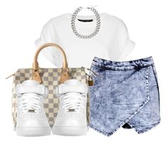 """7.11.14"" by major-d ❤ liked on Polyvore featuring Topshop, Boohoo, Louis Vuitton, NIKE and H&M"