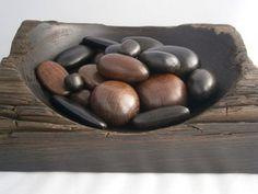 Bog oak pebbles