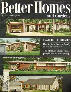 Better Homes and Gardens Cover September Gardens and Mid century