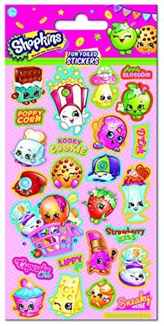 From 0.89 Paper Projects Shopkins Foiled Stickers