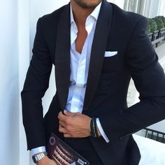 Men in suits – delicious! Cocktail Outfit, Men Formal, Professional Attire, Collar Shirts, Polo Shirts, Mens Suits, Cool Outfits, Mens Fashion, Fashion Menswear