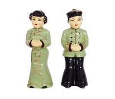Vintage Pottery, Vintage Ceramic, Chinese Figurines, Grandmothers Love, Chinoiserie, Kitsch, Poodle, Miniatures, Asian