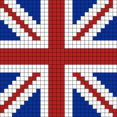 UK Flag Perler Bead Pattern / Bead Sprite