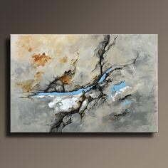 48 große abstrakte grau braun blau schwarz weiß
