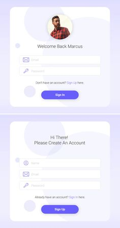 Sign In / Sign Up Widget Template PSD, XD Web Forms, Templates, Signs, Stencils, Novelty Signs, Template, Signage, Western Food, Dishes