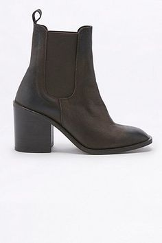 Maggie Square Toe Brown Chelsea Ankle Boots