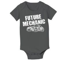 Future Mechanic Funny Car Hip Cool Cute Humorous Baby One Piece:Amazon:Clothing