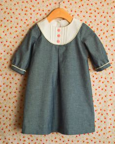 A Stitch a Day: Oliver + S Chambray Playdate Dress