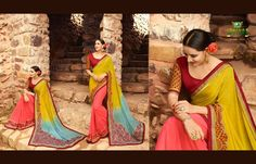 Get yourself look like a Diva in this impressive Multicolor printed Saree with Georgette fabric.