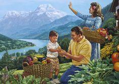 Familia feliz en el Paraíso