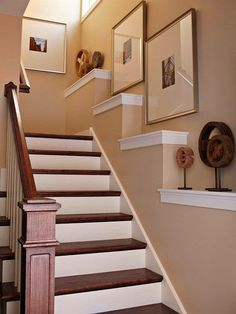 Built-in stair-step ledges add impact to the stairwell  - Seven Creative Ways to Design a Stairwell
