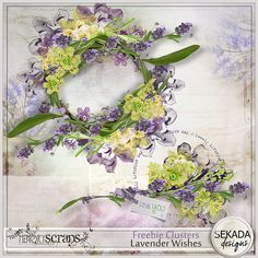 Lavender Wishes new kit and Freebie for you http://sekadascrapy.blogspot.com/