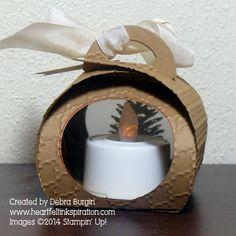 Tuesday, October 2014 Debra Burgin: Stampin' Up! Curvy Keepsake Pine Cone back 3d Christmas, Christmas Projects, Little Box, Cute Box, Craft Box, Scrapbooking, Box Design, Keepsake Boxes, Craft Fairs
