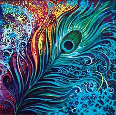 Abstract design Diamond Painting Kits include a wonderful collection of designs and colors to make special one of a kind diamond paintings. Psychedelic Art, Peacock Feathers, Feather Art, Feather Drawing, Peacock Tail, Green Peacock, Feather Design, 5d Diamond Painting, Oeuvre D'art