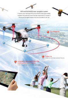 www.HobbyFlip.com - Walkera Voyager 3 Drone FPV Devo F12E 4K Quadcopter HD GPS