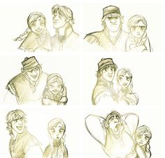 Anna and Kristoff Concept Art by Jin Kim