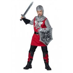 Childrens Brave Knight Kids Medieval Costume for any medieval themed parties or events