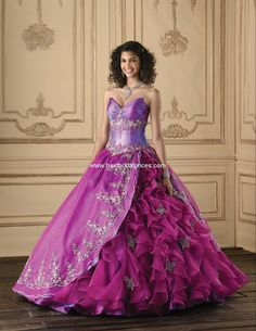 Quinceanera Collection Purple Quinceanera Dress