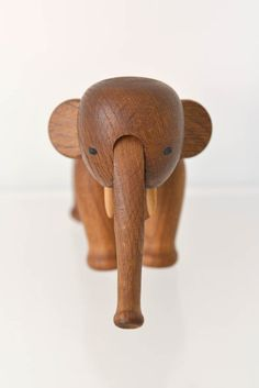 This is an original and pristine elephant by renowned Danish toy designer, Kay Bojesen from the 50s. His legs and truck are movable and there are